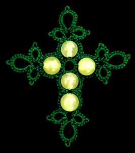 cruz para el rosario de frivolite